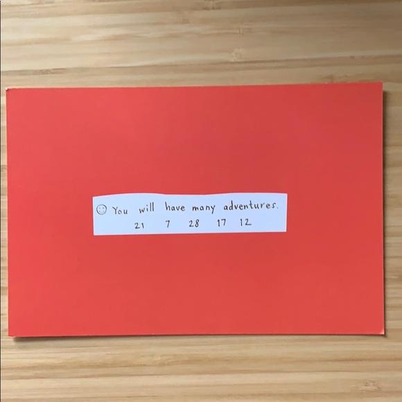 "10 kate spade ""adventures fortune"" postcards"